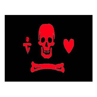 Stede Bonnet-Red Postcard