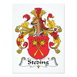 "Steding Family Crest 6.5"" X 8.75"" Invitation Card"