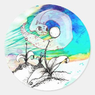 SteebyRaq ama su perla de la luna Pegatinas Redondas