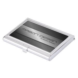 Steel / Aluminum Effect Business Card Holder