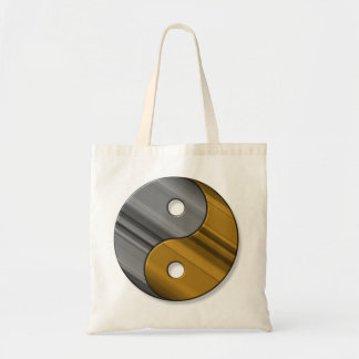 steel and brass tote bag