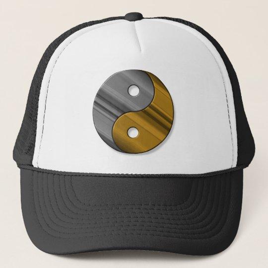 steel and brass trucker hat