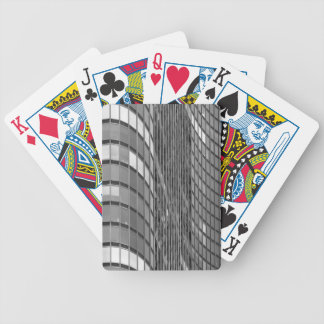 Steel and glass curtain wall of modern bicycle playing cards