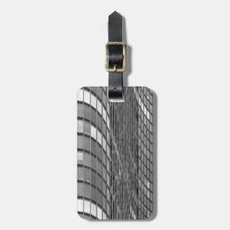 Steel and glass curtain wall of modern luggage tag