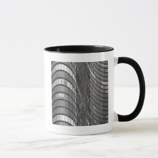 Steel and glass curtain wall of modern mug