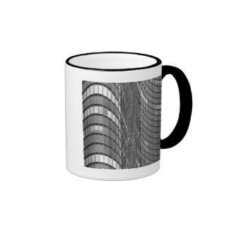 Steel and glass curtain wall of modern coffee mug