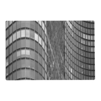 Steel and glass curtain wall of modern placemat