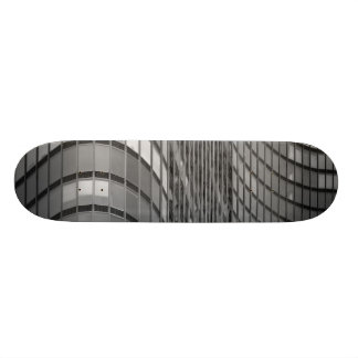 Steel and glass curtain wall of modern skateboard