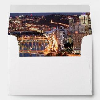 Steel and Indigo Sandwich Envelopes