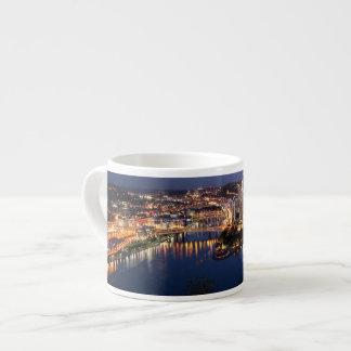 Steel and Indigo Sandwich Espresso Cup