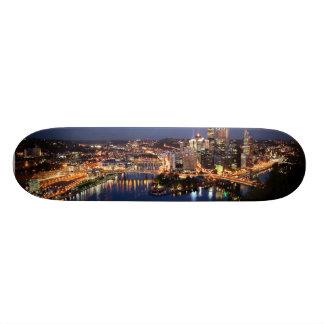 Steel and Indigo Sandwich Skateboard