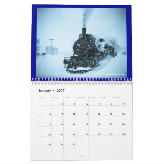 Steel and Steam 2016 Vintage Railroad Locomotives Calendar