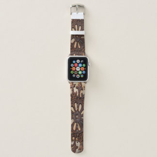 Steel Art Apple Watch Leather Band