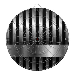 steel bars background dart board