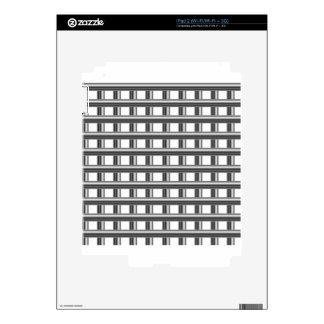 steel bars background skin for iPad 2