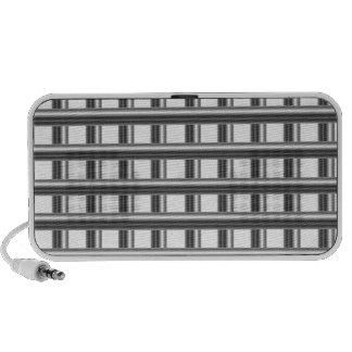 steel bars background speaker