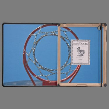 Steel basketball hoop cover for iPad