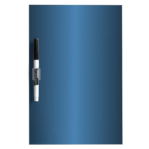 Steel Blue and Black Gradient Dry-Erase Whiteboard