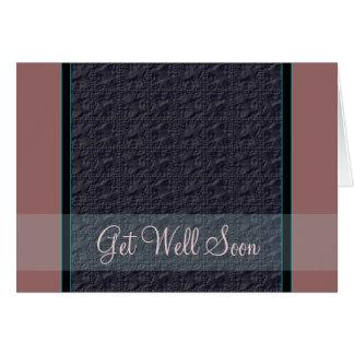 Steel Blue Crinkle Look Customizable Card
