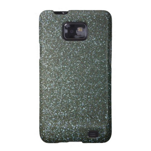 Steel Blue Grey Faux Glitter Samsung Galaxy Covers