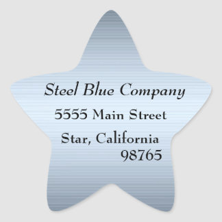 Steel Blue Metal Address Labels Stickers