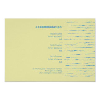 "Steel Blue & Primrose Enclosure Card 3.5"" X 5"" Invitation Card"