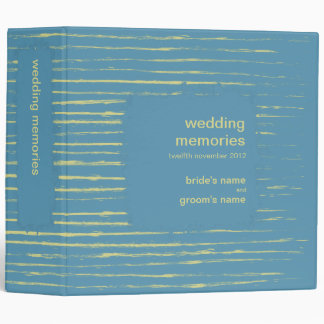 Steel Blue & Primrose Wedding Memories Binder