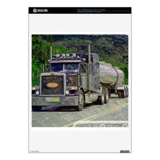 Steel-Blue Tanker Truck Art Playstation 3 Skin PS3 Slim Decals