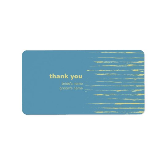 Steel Blue Thank You Gift Sticker