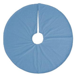 Steel Blue Traditional Monochrome Fleece Tree Skirt
