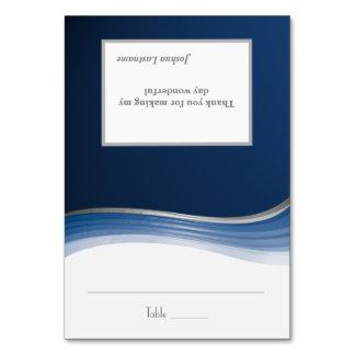 Steel Blue Wave Seating Card