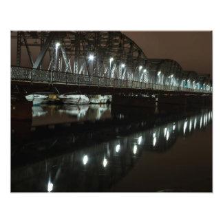 Steel Bridge - Night Shot -Door County, WI Photo Print