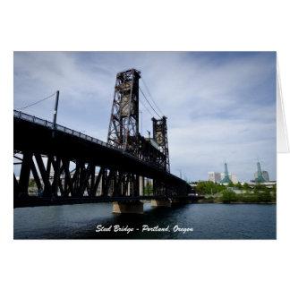 Steel Bridge - Portland, Oregon Card