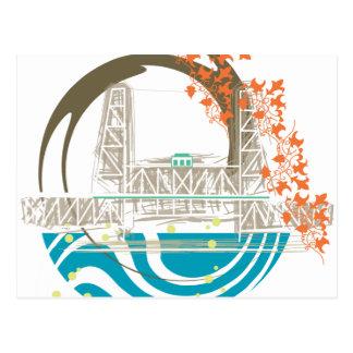 Steel Bridge Portland Postcard