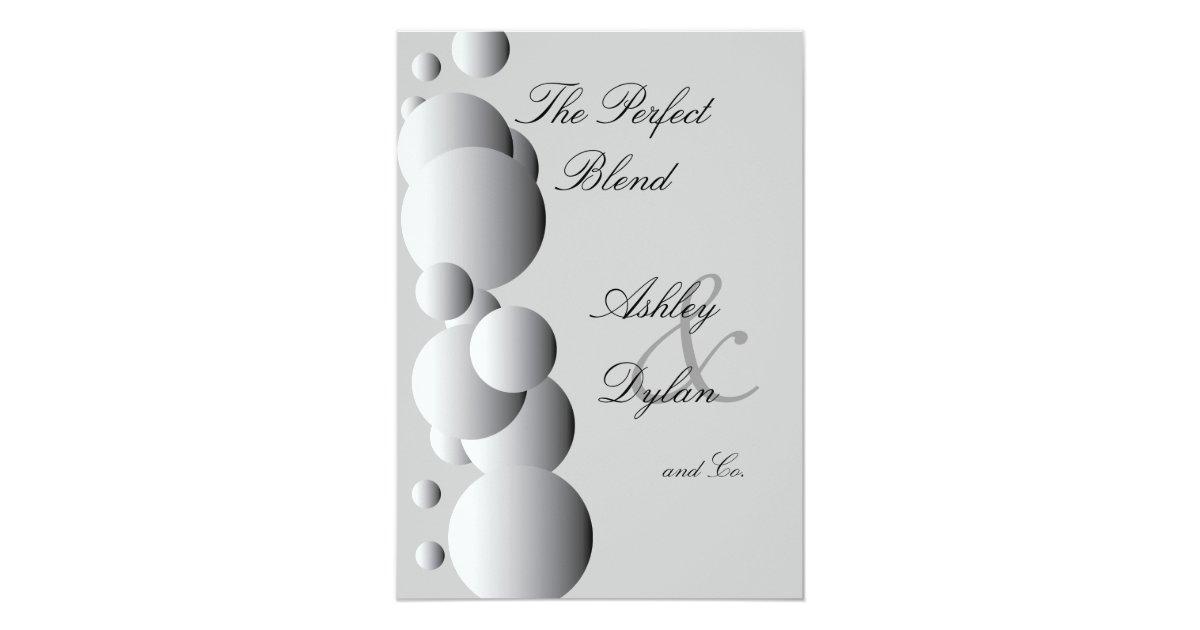 Blended Family Wedding Invitations: Steel Bubbles Blended Family Wedding Invitation