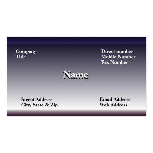 Steel Business Card