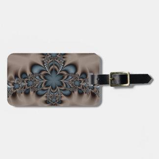 Steel butterflower luggage tag