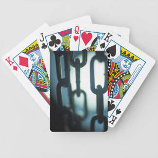 Steel chain links silhouette close-up AT night Bicycle Playing Cards