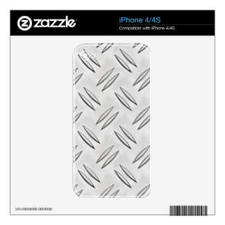 Steel checker plate decal for the iPhone 4S