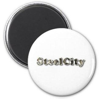Steel City 2 Inch Round Magnet