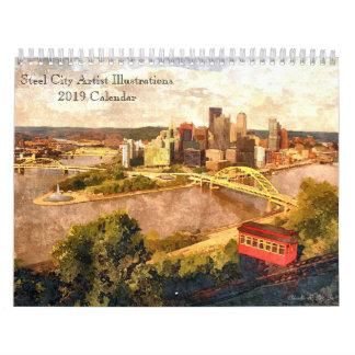 Steel City Artist Illustrations 2019 Calendar