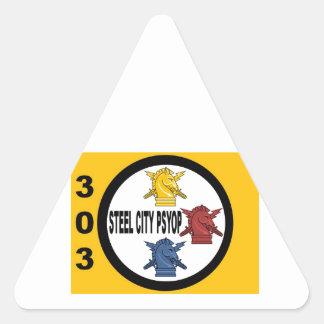 Steel City PSYOP Triangle Sticker