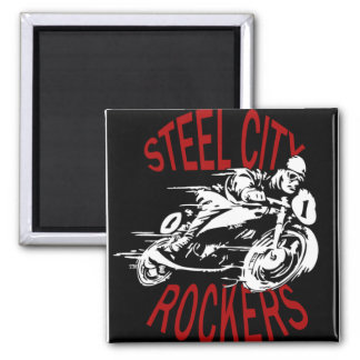 Steel City Rockers 2 Inch Square Magnet