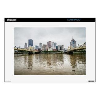 "steel city skyline 15"" laptop decal"