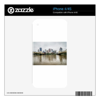 steel city skyline skin for iPhone 4