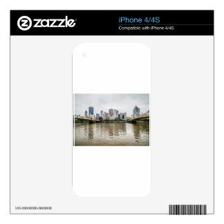 steel city skyline skin for iPhone 4