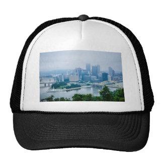 steel city skyline trucker hat