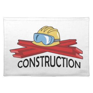 STEEL CONSTRUCTION CLOTH PLACE MAT