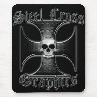 Steel Cross Graphics - Black Iron Cross Mouse Pad