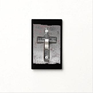 Steel Cross Light Switch Cover